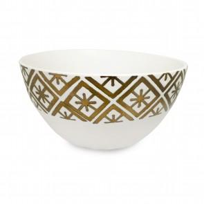 Bowl diseño rombos dorada 15cm